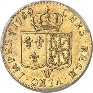 Louis XVI (1774-1792). Louis d'or à la tête nue 1789, 1er semestre, W, Lille.