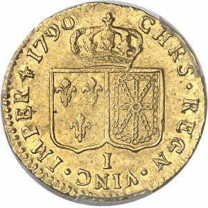 Louis XVI (1774-1792). Louis d'or à la tête nue 1790, 1er semestre, I, Limoges.