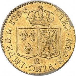 Louis XVI (1774-1792). Louis d'or à la tête nue 1790, 1er semestre, R, Orléans.
