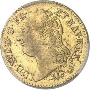 Louis XVI (1774-1792). Louis d'or à la tête nue 1791/81 1er semestre, D, Lyon.