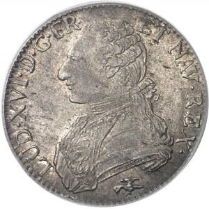 Louis XVI (1774-1792). Écu aux rameaux d'olivier 1775, D, Lyon.