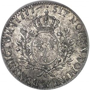 Louis XVI (1774-1792). Écu aux rameaux d'olivier, différent après date 1777, W, Lille.