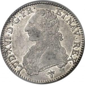 Louis XVI (1774-1792). Écu aux rameaux d'olivier 1784, H, La Rochelle.