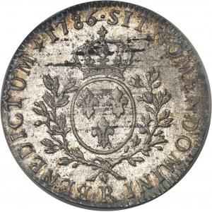 Louis XVI (1774-1792). Écu aux rameaux d'olivier 1786, R, Orléans.