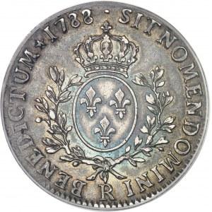 Louis XVI (1774-1792). Écu aux rameaux d'olivier 1788, R, Orléans.