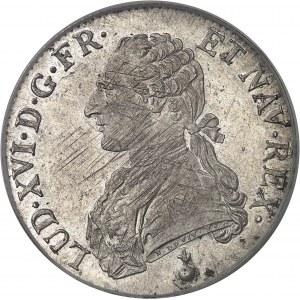 Louis XVI (1774-1792). Écu aux rameaux d'olivier 1790, AA, Metz.