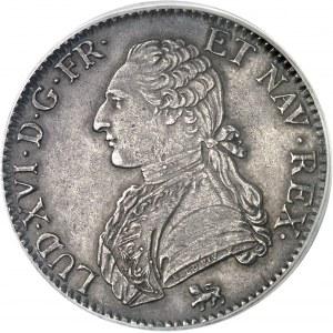 Louis XVI (1774-1792). Écu aux rameaux d'olivier 1792, A, Paris.