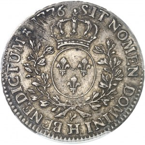 Louis XVI (1774-1792). Demi-écu aux rameaux d'olivier 1776, H, La Rochelle.