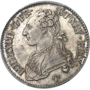 Louis XVI (1774-1792). Demi-écu aux rameaux d'olivier 1781, H, La Rochelle.