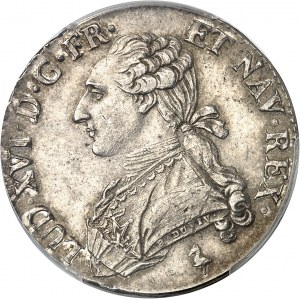 Louis XVI (1774-1792). Demi-écu aux rameaux d'olivier 1783, 1er semestre, A, Paris.