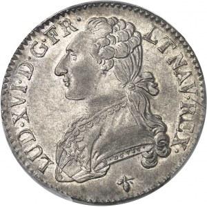 Louis XVI (1774-1792). Demi-écu aux rameaux d'olivier 1784, H, La Rochelle.
