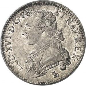 Louis XVI (1774-1792). Demi-écu aux rameaux d'olivier 1789, T, Nantes.