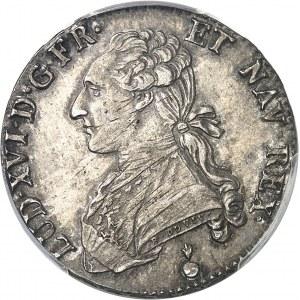 Louis XVI (1774-1792). Demi-écu aux rameaux d'olivier 1790/1770, AA, Metz.