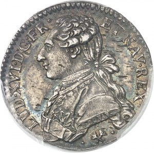 Louis XVI (1774-1792). Cinquième d'écu aux rameaux d'olivier 1775, L, Bayonne.