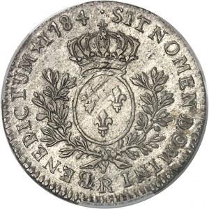 Louis XVI (1774-1792). Cinquième d'écu aux rameaux d'olivier 1784, R, Orléans.