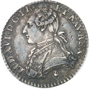 Louis XVI (1774-1792). Dixième d'écu aux rameaux d'olivier 1779/8, 1er semestre, A, Paris.