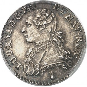Louis XVI (1774-1792). Dixième d'écu aux rameaux d'olivier 1784, AA, Metz.