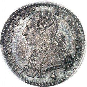 Louis XVI (1774-1792). Dixième d'écu aux rameaux d'olivier 1785, 1er semestre, A, Paris.