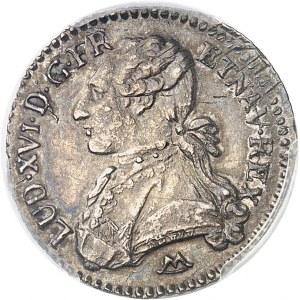 Louis XVI (1774-1792). Dixième d'écu aux rameaux d'olivier 1789, N, Montpellier.