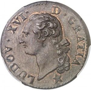 Louis XVI (1774-1792). Sol, variété LVDO[A] 1786, &, Aix-en-Provence.