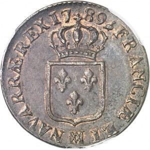 Louis XVI (1774-1792). Sol 1789, MA, Marseille.