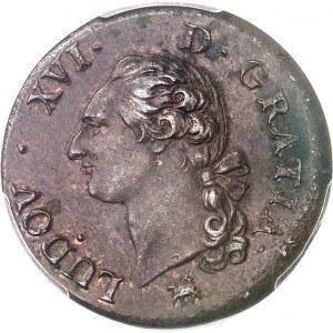 Louis XVI (1774-1792). Sol 1791, 2e semestre, B, Rouen.