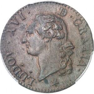 Louis XVI (1774-1792). Sol 1791, 2e semestre, W, Lille.