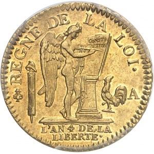 Constitution (1791-1792). Louis d'or de 24 livres 1792, 2e semestre, A, Paris.