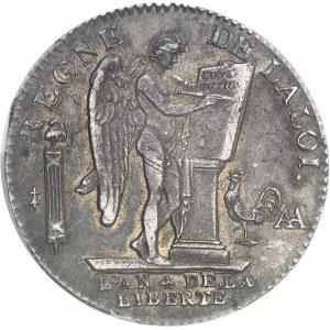 Constitution (1791-1792). Écu de 6 livres FRANÇOIS 1792, 2e semestre, AA, Metz.
