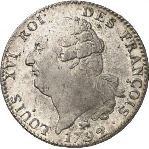 Constitution (1791-1792). Écu de 6 livres FRANÇOIS 1792, 2e semestre, B, Rouen.