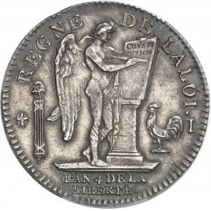 Constitution (1791-1792). Écu de 6 livres FRANÇOIS 1792, 1er semestre, I, Limoges.