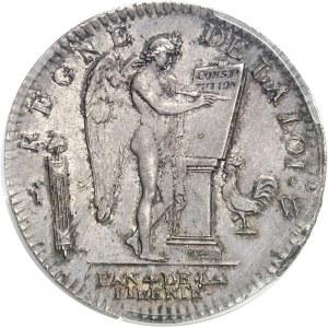 Constitution (1791-1792). Écu de 6 livres FRANÇOIS 1792, 2e semestre, W, Lille.