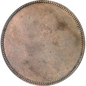 Constitution (1791-1792). Épreuve uniface de revers de l'essai de l'écu de six livres de Gatteaux, concours de 1791 1791, Paris.