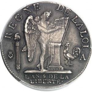 Constitution (1791-1792). Demi-écu de 3 livres FRANÇOIS 1793/2 - An 5/4, A, Paris.
