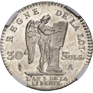 Constitution (1791-1792). 30 sols FRANÇOIS 1791, A, Paris.