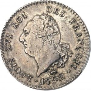 Constitution (1791-1792). 30 sols FRANÇOIS 1792, 1er semestre, A, Paris.