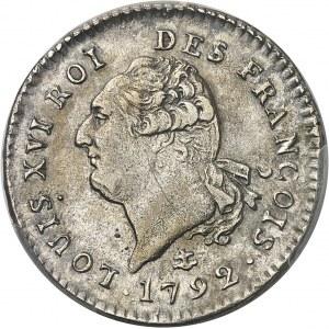 Constitution (1791-1792). 30 sols FRANÇOIS 1792, 2e semestre, Q, Perpignan.