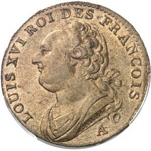 Constitution (1791-1792). 12 deniers FRANÇOIS, sans différents (ESSAI ?) 1791, A, Paris.