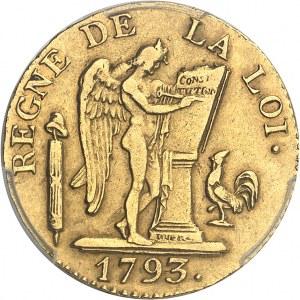 Convention (1792-1795). Louis d'or de 24 livres 1793, A, Paris.