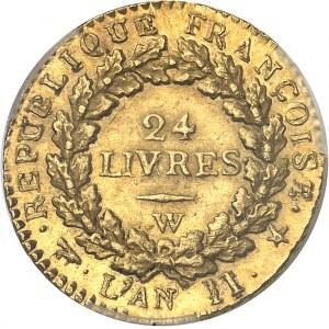 Convention (1792-1795). Louis d'or de 24 livres 1793, W, Lille.