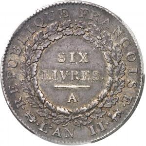 Convention (1792-1795). Écu de 6 livres FRANÇOISE 1793, 1er semestre, A, Paris.