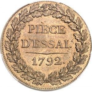 Convention (1792-1795). Essai au module de 1 sol 1792, Paris.