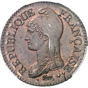 Directoire (1795-1799). Cinq centimes Dupré An 7, BB, Strasbourg.