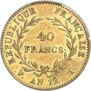 Consulat (1799-1804). 40 francs Bonaparte, Premier Consul An 12, A, Paris.