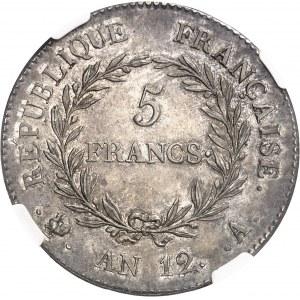 Consulat (1799-1804). 5 francs Bonaparte An 12, A, Paris.
