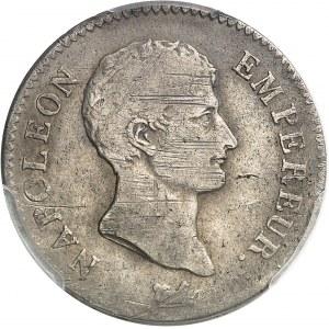 Premier Empire / Napoléon Ier (1804-1814). 2 francs tête nue, calendrier révolutionnaire AN 13, G, Genève.