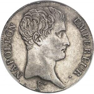 Premier Empire / Napoléon Ier (1804-1814). 5 francs République, calendrier grégorien 1807, U, Turin.