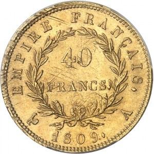 Premier Empire / Napoléon Ier (1804-1814). 40 francs Empire 1809, A, Paris.