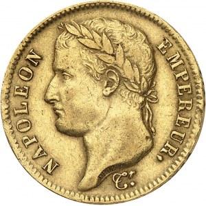 Premier Empire / Napoléon Ier (1804-1814). 40 francs Empire, tranche fautée avec inscription dédoublée 1811, A, Paris.