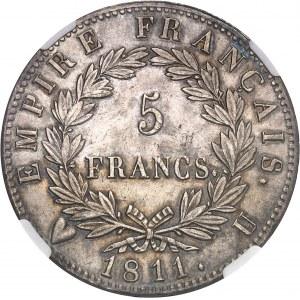 Premier Empire / Napoléon Ier (1804-1814). 5 francs Empire 1811, U, Turin.